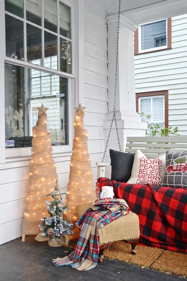 rustic christmas porch a must pin for inspiration to decorate your porch to welcome your - Rustic Christmas Porch Decorating Ideas