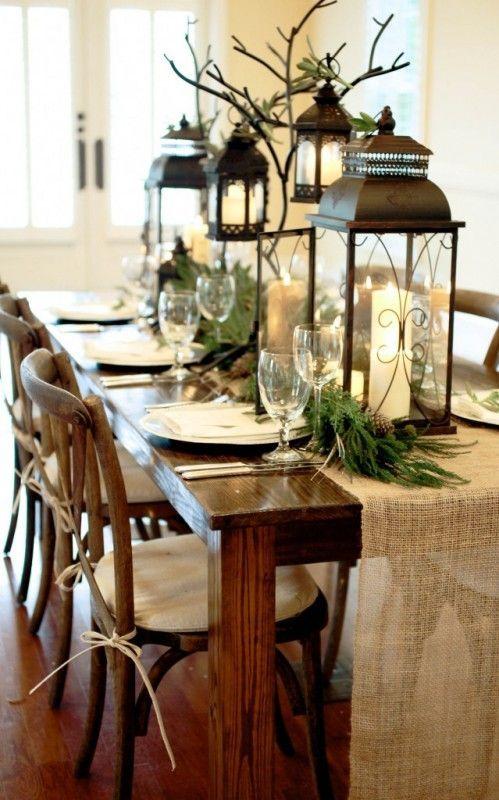 winter decorations winter table ideas