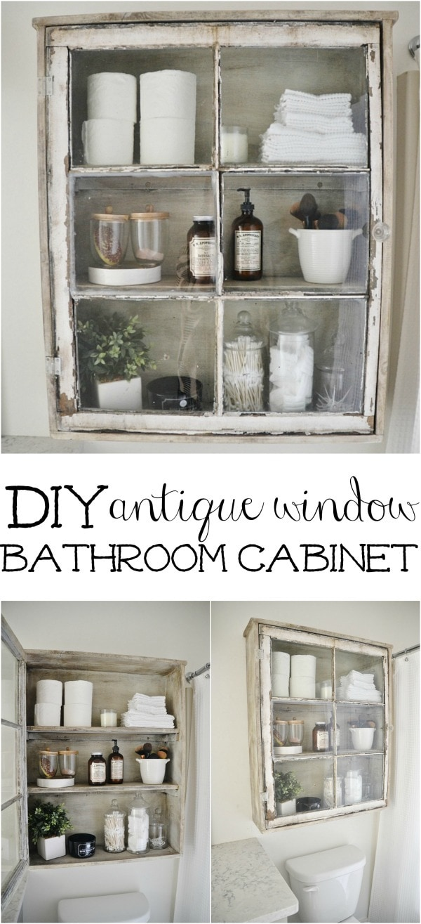 Attirant DIY Antique Window Cabinet  See How To Make This Super Easy Antique Window  Cabinet.