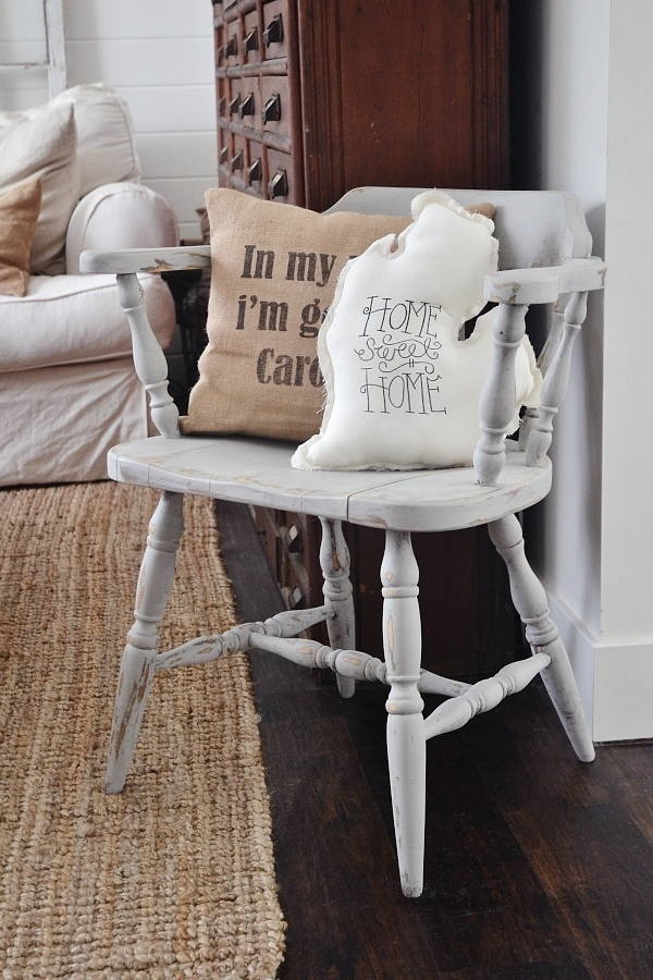 cozy gray chair