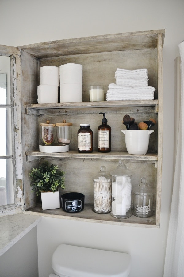 DIY Antique Window Cabinet  See How To Make This Super Easy Antique Window  Cabinet.