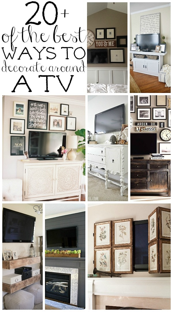 Delightful How To Decorate Around A TV