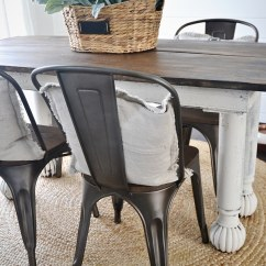 Rustic Metal Dining Chairs Steel Chair Picture New And Wood Liz Marie Blog With A Farmhouse Table