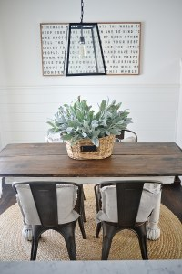 New Rustic Metal And Wood Dining Chairs