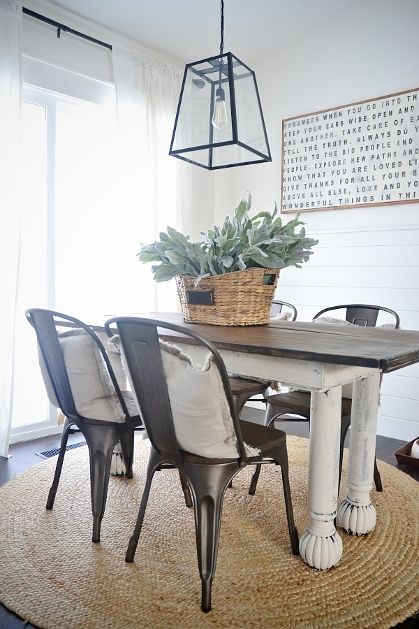 dining table with metal chairs hanging chair ezibuy new rustic and wood liz marie blog a farmhouse