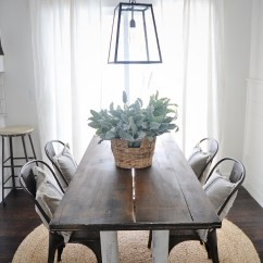 Dining Table With Metal Chairs Black Spandex Chair Covers For Sale New Rustic And Wood Liz Marie Blog