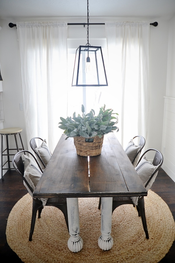 metal chairs and table brown office guest new rustic wood dining liz marie blog with a farmhouse