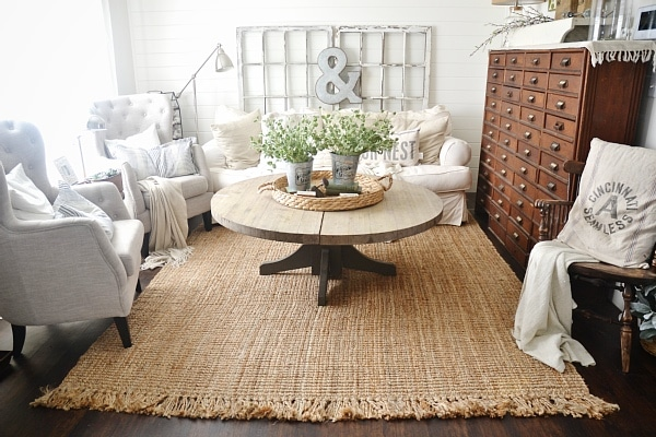 Jute Rug Review An Honest Review After Three Years Liz Marie Blog - Dining table carpet mat