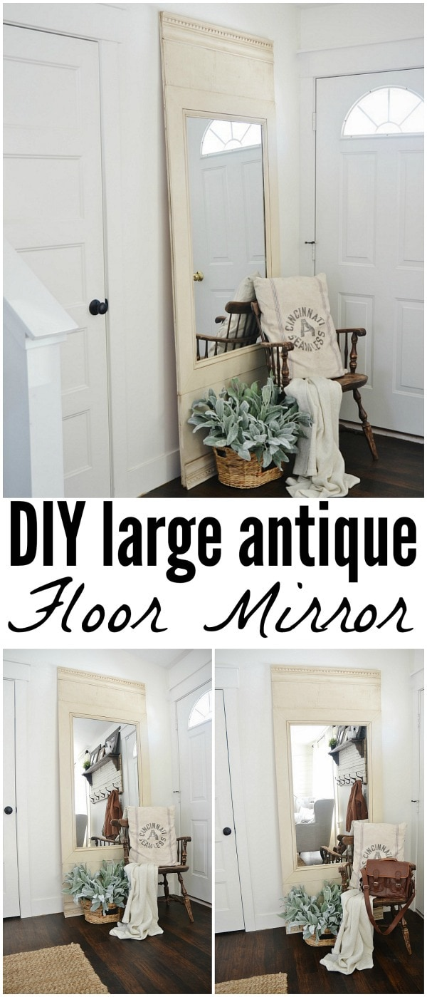 DIY Floor Mirror - Liz Marie Blog
