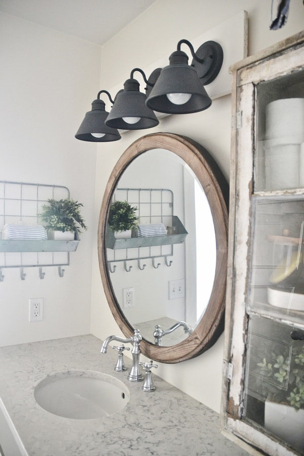 farmhouse bathroom lighting diy farmhouse bathroom vanity light fixture liz 12819