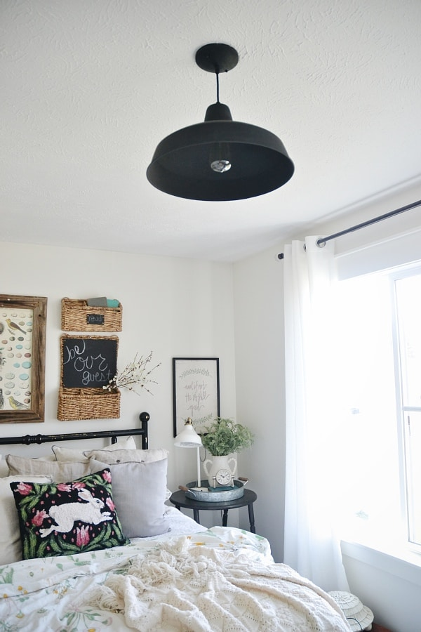 Diy Chalk Paint Farmhouse Light Makeover Liz Marie Blog