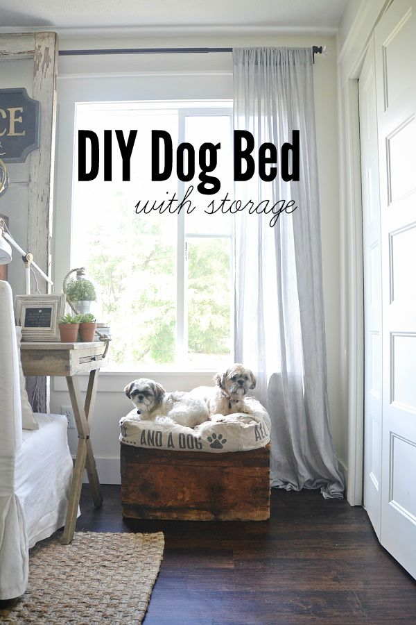 DIY super easy dog bed with storage - A must pin for all the animal lovers!