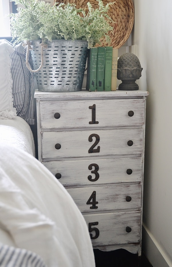 Dresser as a nightstand - makeover & how to get this look!