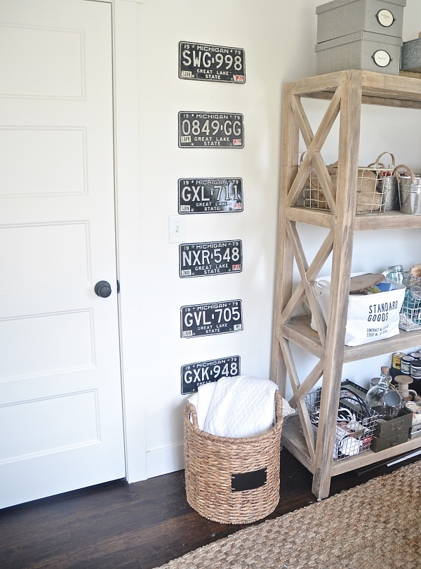 DIY License Plate Gallery Wall
