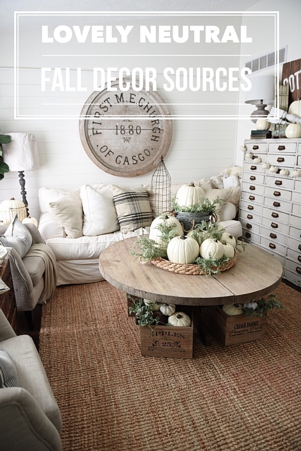 Neutral Fall Decor Sources Liz Marie Blog