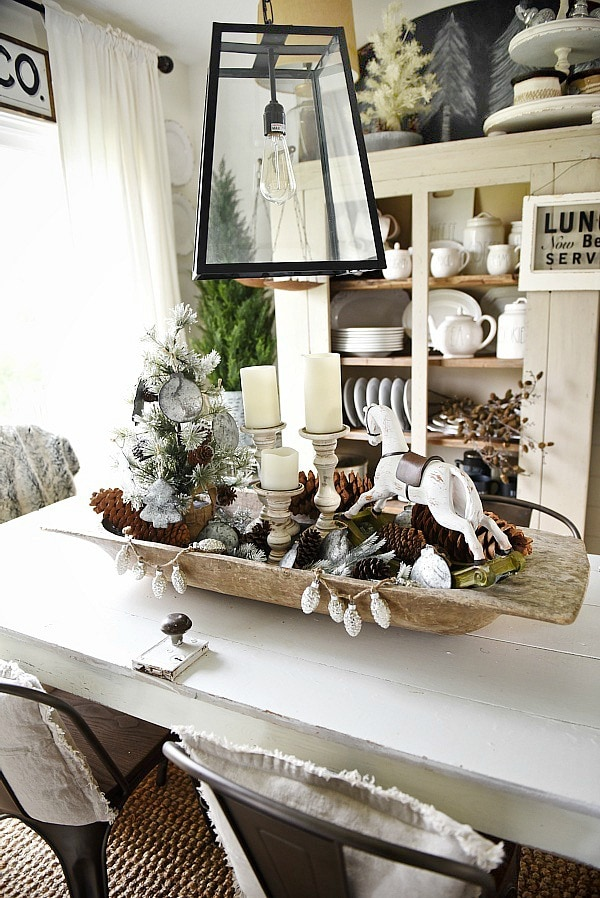 rustic christmas dough bowl centerpiece see this neutral rustic christmas decor get inspired by - Neutral Christmas Decor