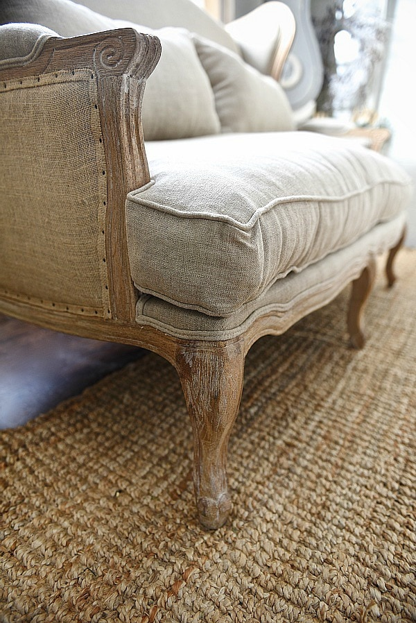 Farmhouse Settee   Burlap And Natural Fiber Sofa Perfect For A Farmhouse  Living Room. Click