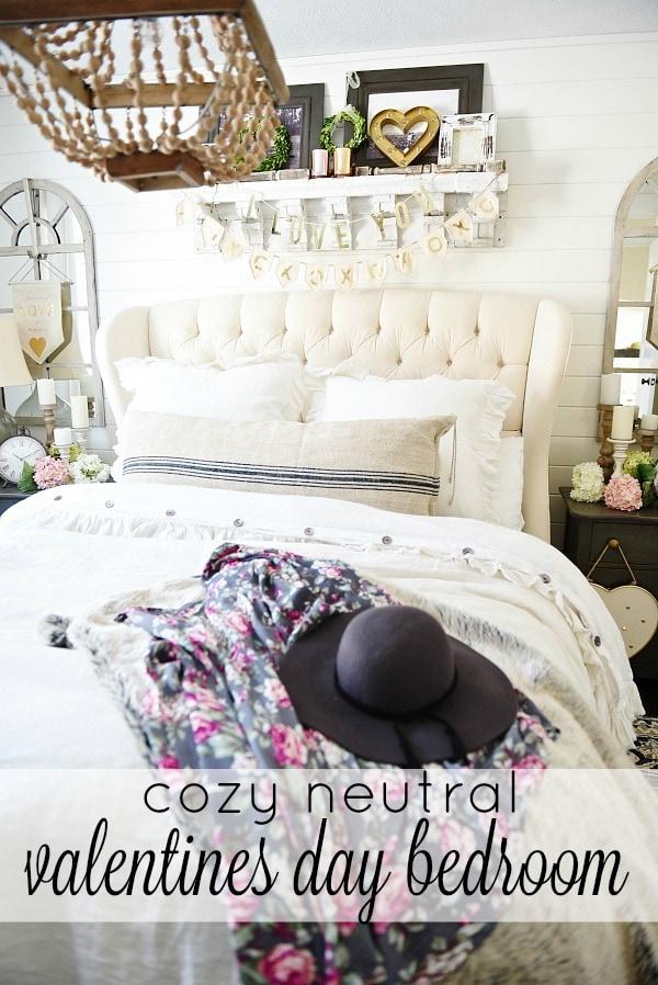 Cozy Cottage Valentines Day Bedroom Decor Liz Marie Blog - Bedroom decor valentines day