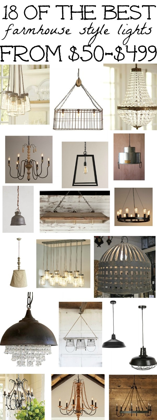 18 of the best farmhouse light fixtures - a must pin for farmhouse light fixtures & farmhouse inspiration.