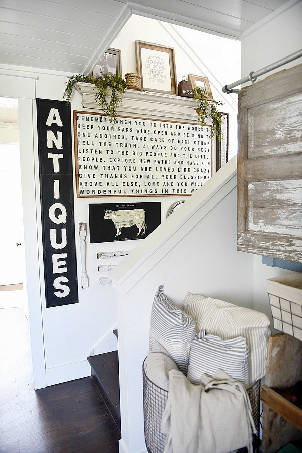 Wall Decor Ideas Blog : Farmhouse style staircase gallery wall liz marie