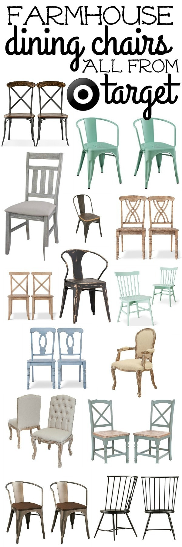 The Best Farmhouse Dining Room Chairs. Great Chairs That Will Add That  Rustic Farmhouse Vibe
