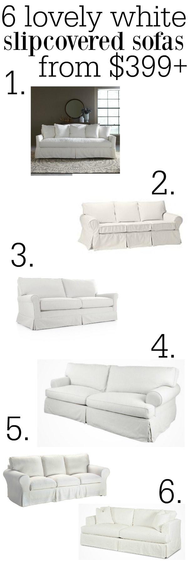 The Best White Slipcovered Sofas
