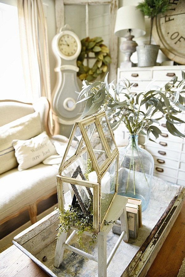 Super easy DIY terrarium that costs $8! So versatile & a great DIY project for home decor in any room of your home. A must pin & a must try!