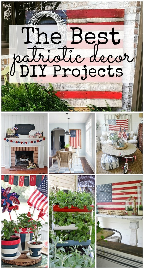 Lovely red white & blue decor!! A must pin for all summer decor & patriotic holidays from centerpieces, room makeovers, furniture, patios, & more!