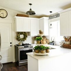 Kitchen On A Budget Rustic Art Top 10 Farmhouse Kitchens Seeking Lavendar Lane Makeover