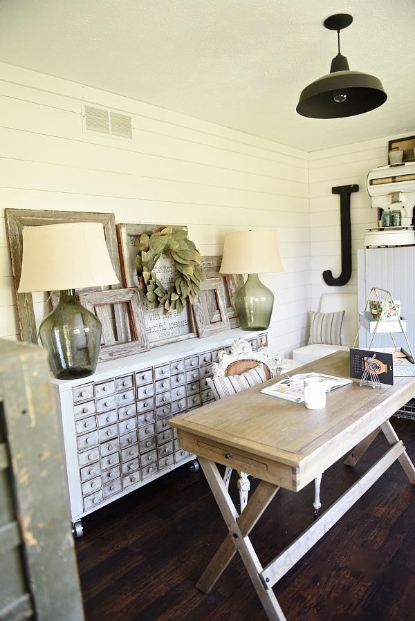 Farmhouse Style Office Makeover  Liz Marie Blog