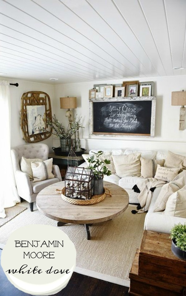 The best rustic farmhouse white paint   a must pin for the best neutral  white to. The Best Rustic Farmhouse White Paint   Liz Marie Blog