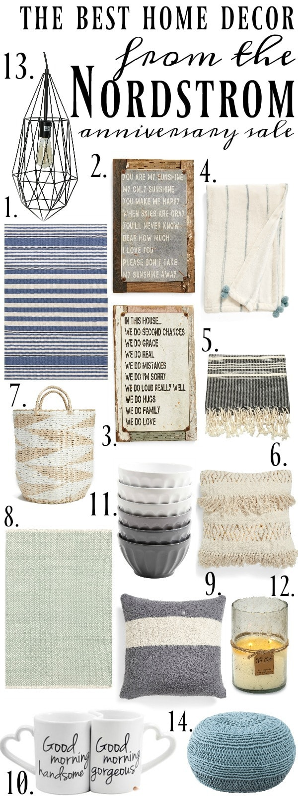 The Best Home decor from the Nordstrom Anniversary sale - Great farmhouse and cottage decor from nordstrom