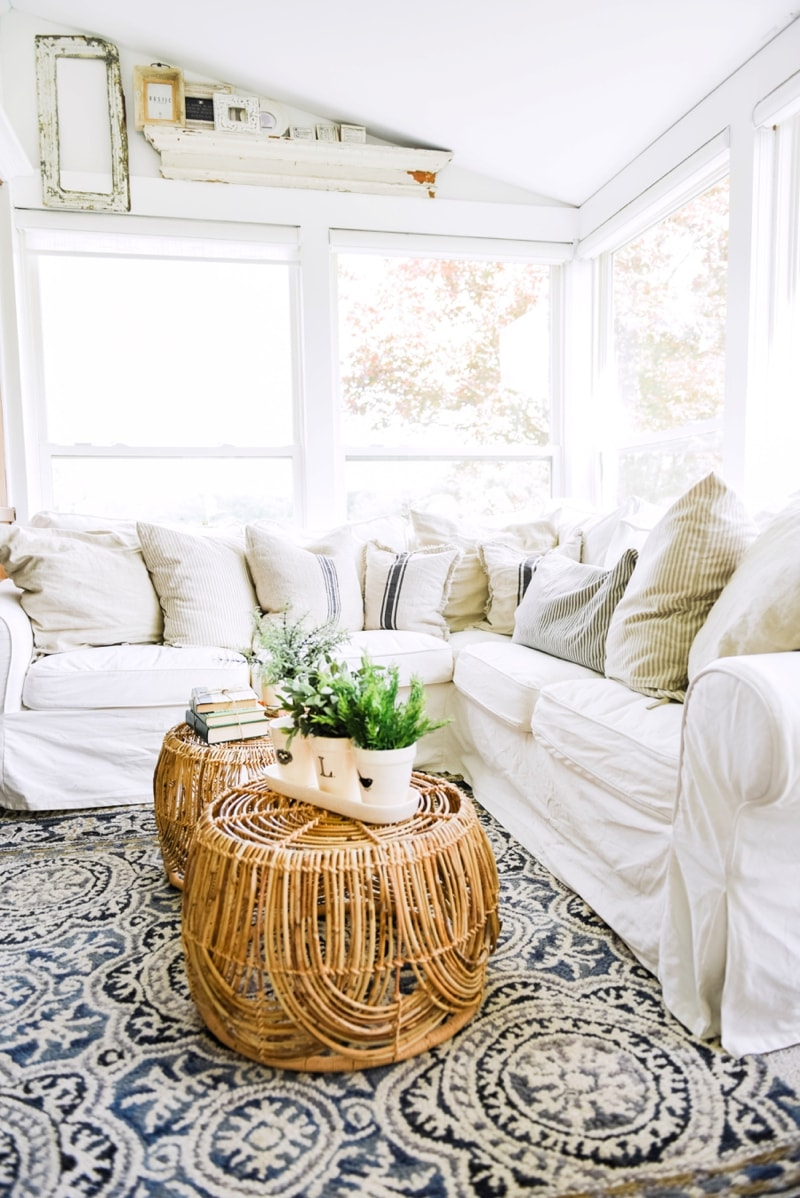 sunroom living room colour schemes 2016 uk wicker coffee table design by liz marie blog 0012