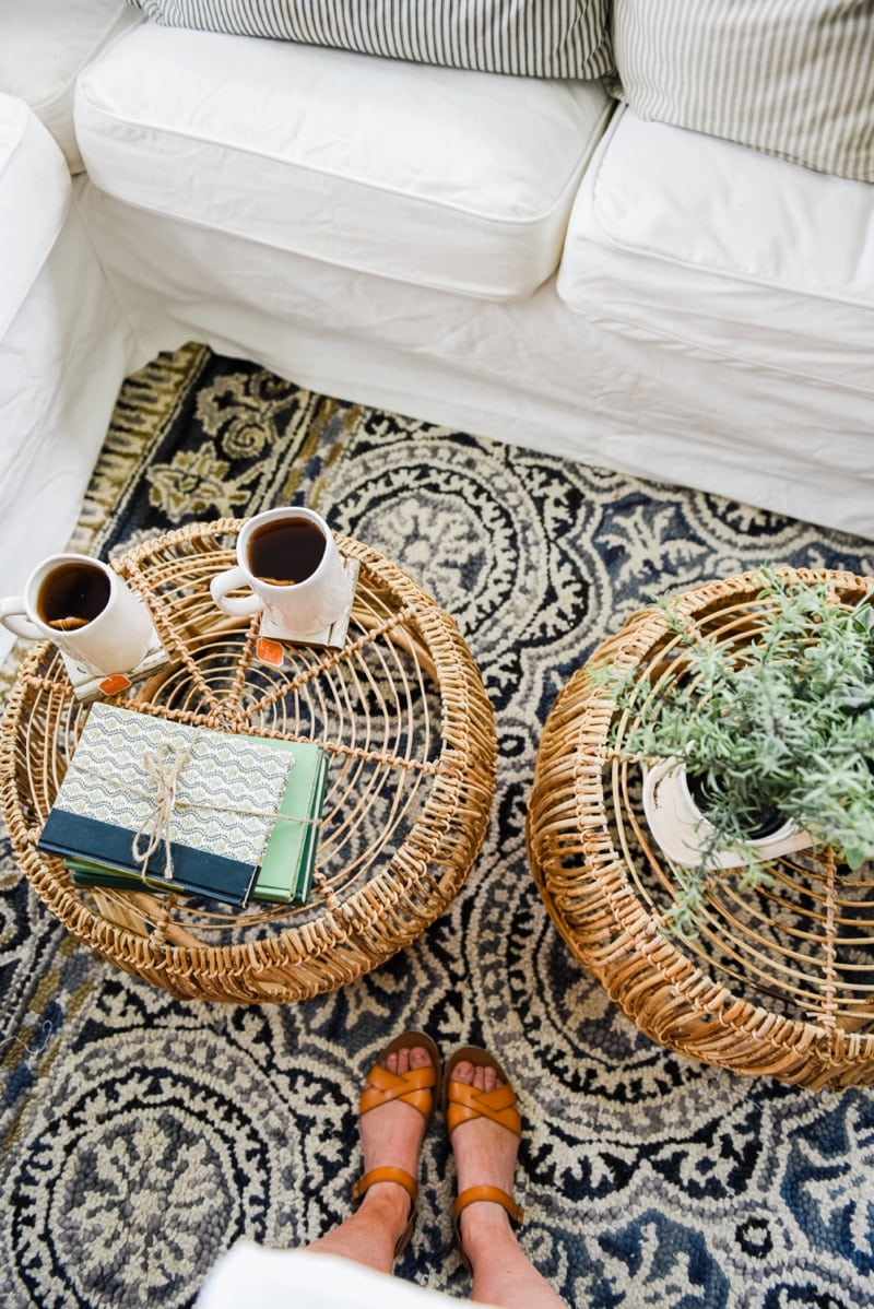 Diy basket coffee table liz marie blog wicker coffee table sunroom living room design by liz marie blog0013 geotapseo Gallery