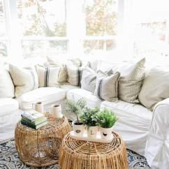 Sunroom Living Room Decorating Ideas For Rooms With Black Sofa Wicker Coffee Table Design By Liz Marie Blog 0017