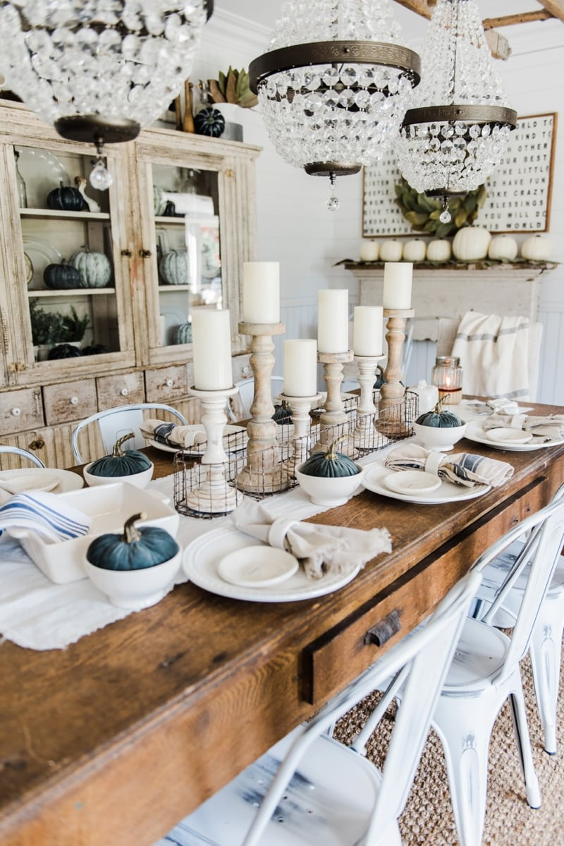 Simple neutral fall farmhouse dining room liz marie blog for All modern accessories