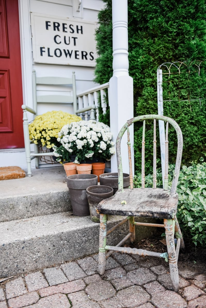 Liz Marie Blog Porch Fresh Cut Flowers Sign_0006