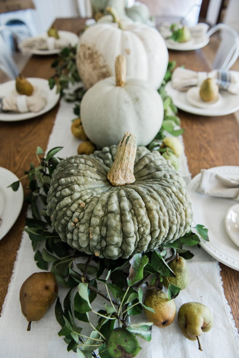 Happy Fall Rustic Pumpkin Amp Pear Farmhouse Table Liz
