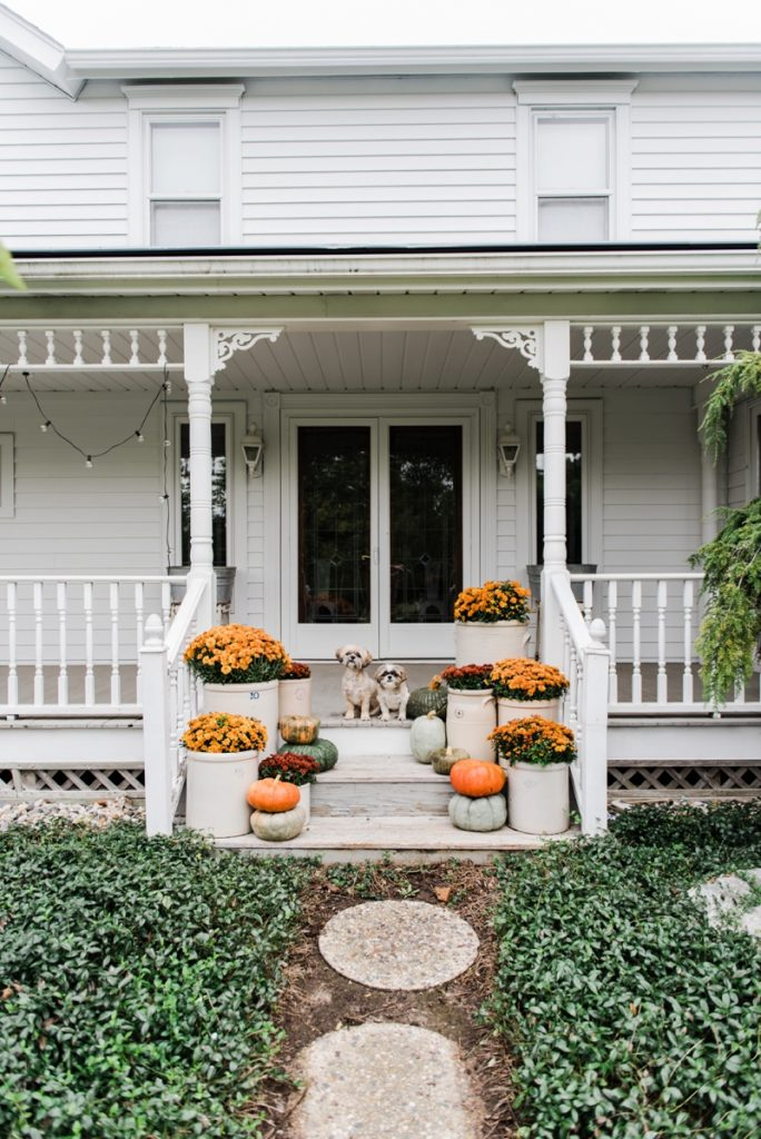 Cozy Rustic Fall Porch