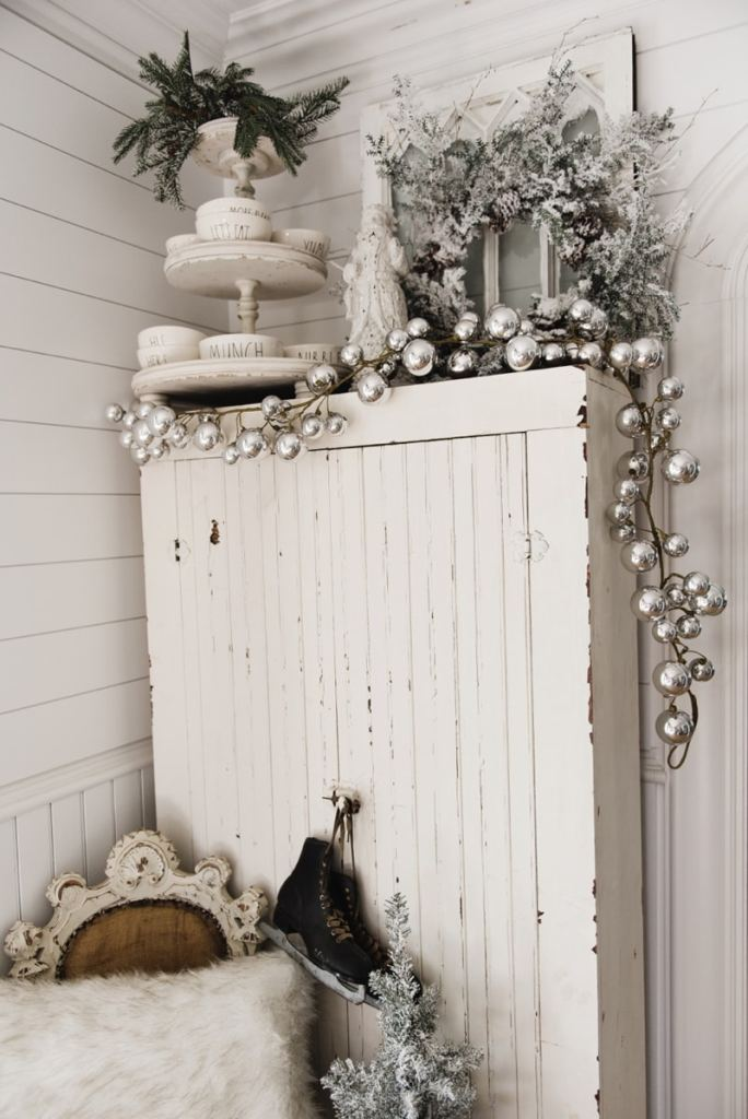 Farmhouse Christmas Cabinet Amp Rustic Santa Liz Marie Blog