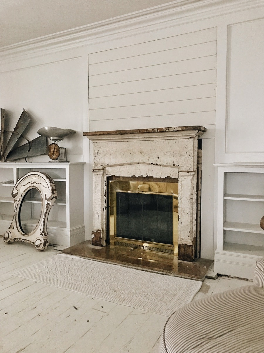 Well-liked Front Living Room Makeover - Shiplap On The Fireplace - Liz Marie Blog AK05