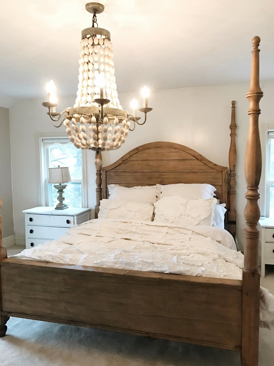 Master bedroom makeover magnolia bed liz marie blog Master bedroom makeover pinterest
