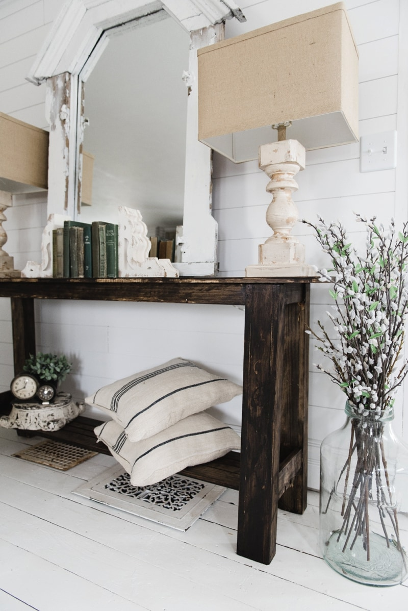 DIY Rustic Small Console Table Liz Marie Blog