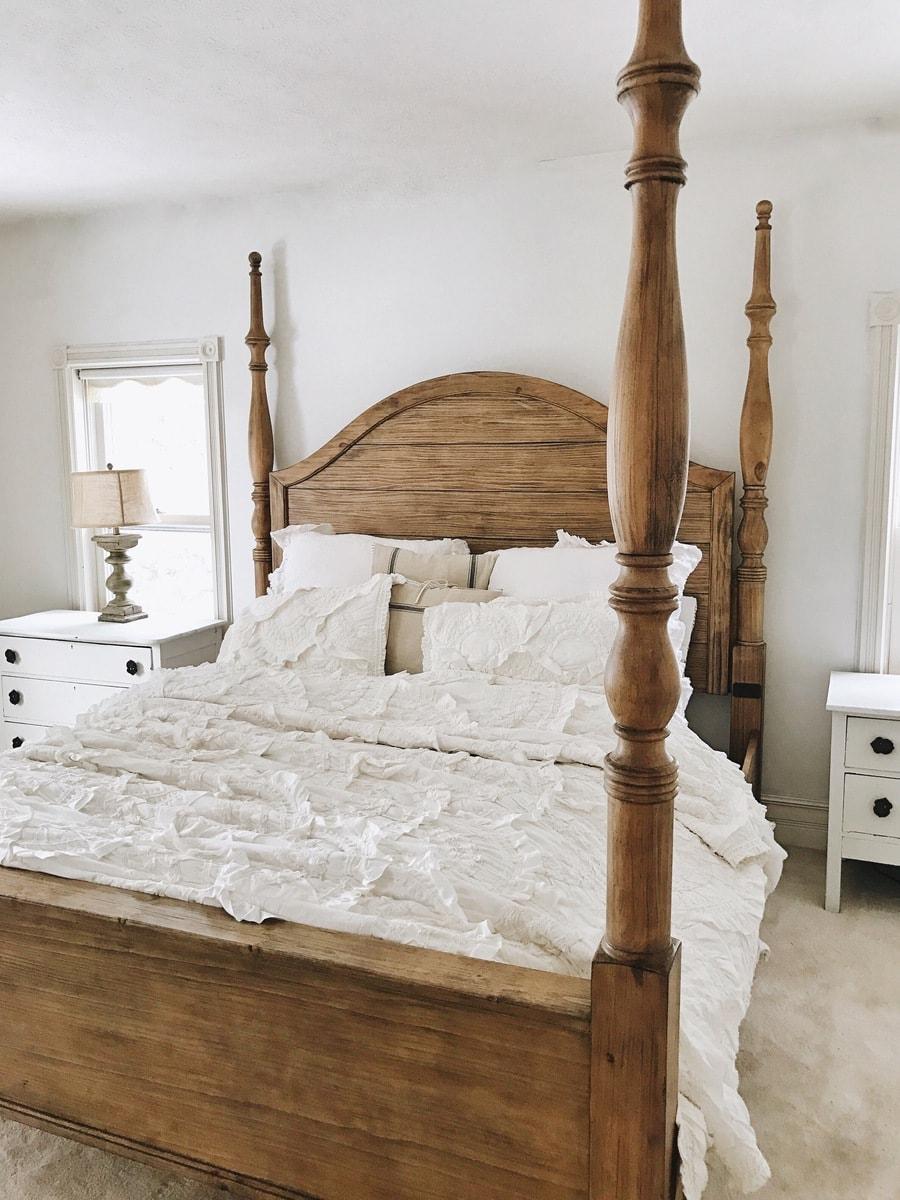 Master Bedroom Makeover Magnolia Bed  Liz Marie Blog