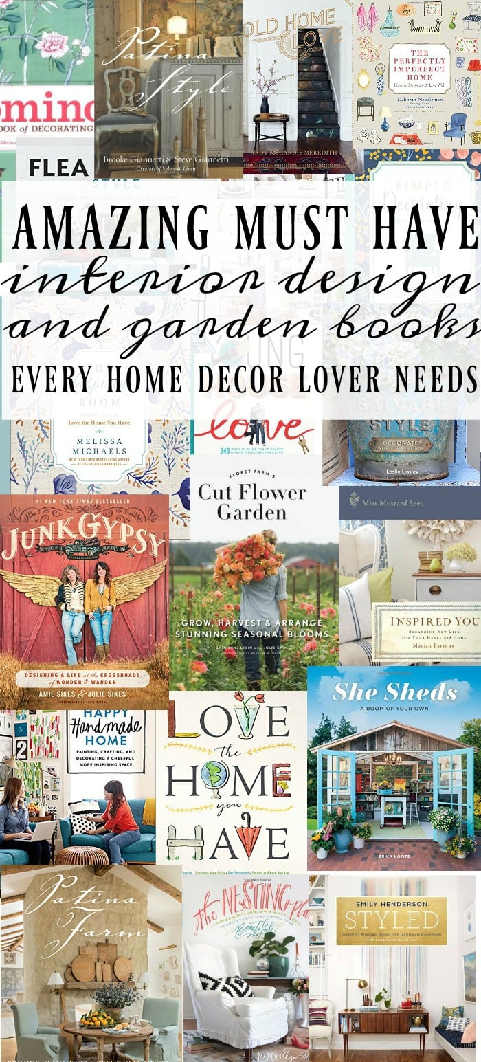 20+ Must Have Interior Design Books