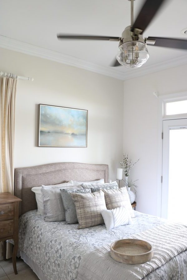 Seriously stylish ceiling fans liz marie blog after we saw the beach house reveal we got to design our own rooms around the fan of our choice i picked the mill valley fan in matte silver designed an aloadofball Image collections