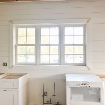 Kitchen & Sunroom Update – Shiplap & Cabinets