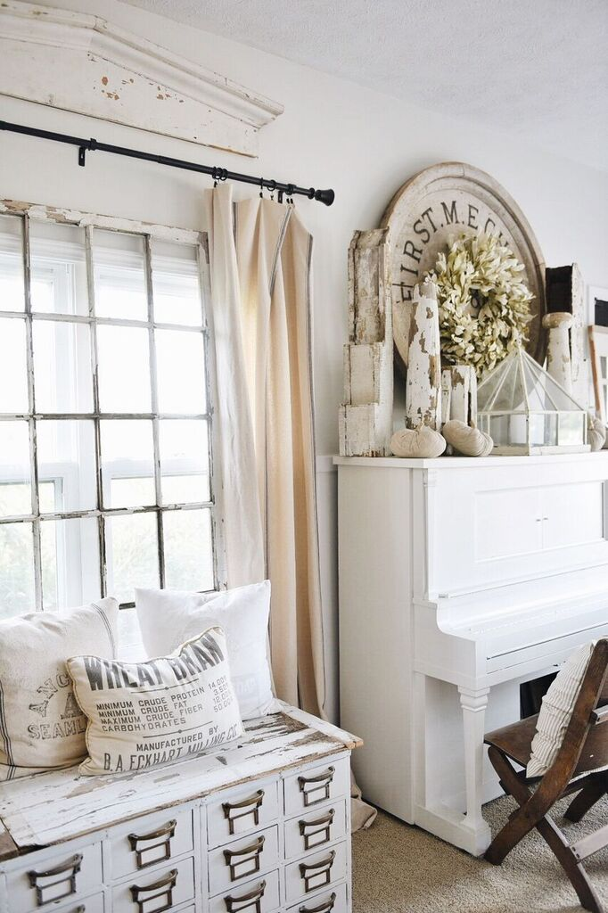 Simple Family Room. I picked up these neutral cloth pumpkins at our Found Cottage Mercantile  Market a few weeks ago decided to use them all over the living room nothing Simple Neutral Fall Family Room Liz Marie Blog
