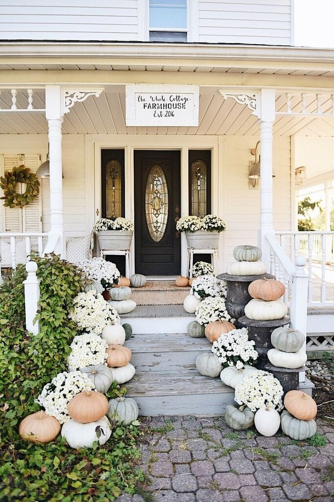 I Mixed In Some Finds From Joss Main HERE To Make This The Perfect Fall Porch Entrance Our Home Incorporated Three Rustic Bronze PlantersHERE
