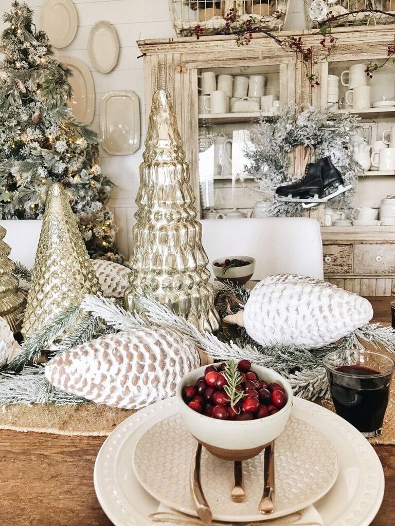 Rustic Glam Cottage Christmas Dining Room Liz Marie Blog